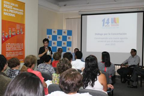 Diálogo por la concertación: Contruyendo una agenda universal para el desarrollo post 2014