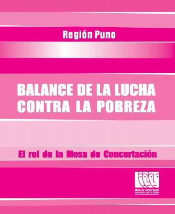 Balance de la lucha contra la pobreza - Región Puno