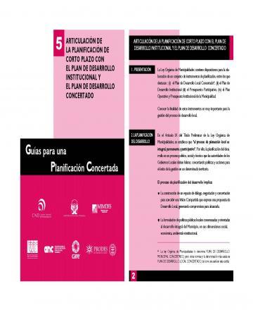 Guías para una planificación concertada - 5