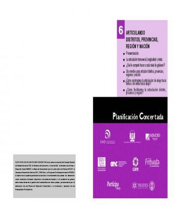 Guías para una planificación concertada - 6