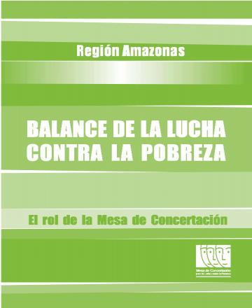 Balance de la lucha contra la pobreza - Región Amazonas