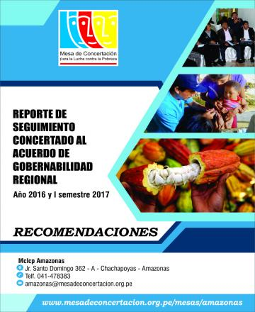 Reporte de seguimiento concertado al Acuerdo de Gobernabilidad 2015-2018 (Año 2016 y I Semestre 2017)