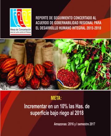 Reporte de seguimiento concertado al Acuerdo de Gobernabilidad de Amazonas 2015-2018 - Dimensión Económica