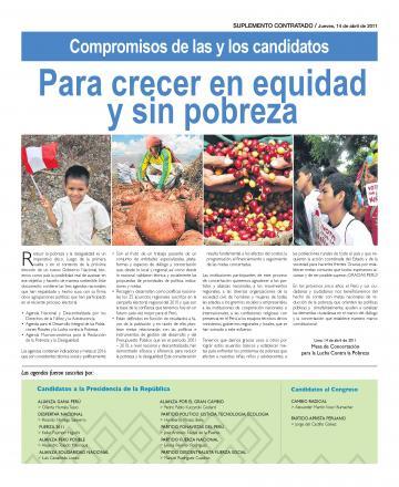 Compromisos de las y los Candidatos para Crecer en Equidad y sin Pobreza