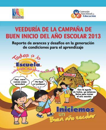 Informe de Veeduría del Buen Inicio del Año Escolar 2013